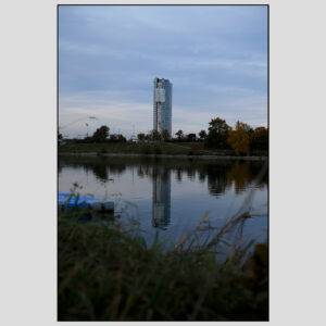 Florido Tower as seen from the Danube Island | October 2020